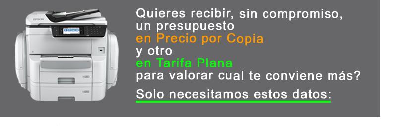 Cupón Gama Tarifa Plana vs Precio por copia 3