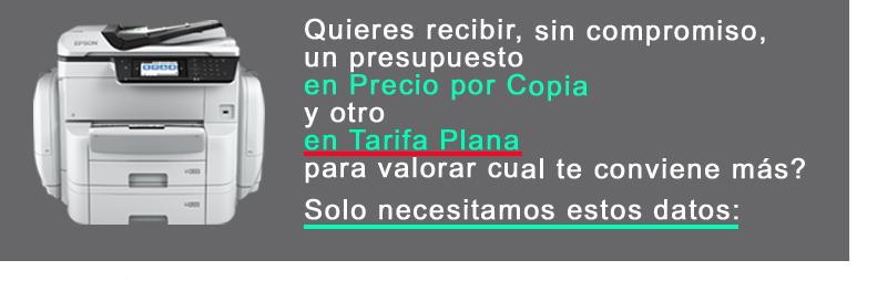 Cupón Gama Tarifa Plana vs Precio por copia 4