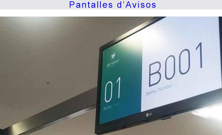 Foto Sanitat Zonas Pantallas avisos CATALÀ