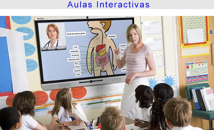 Foto educación aulas interactivas