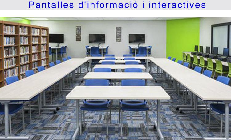 Foto educación pantallas información CATALÀ