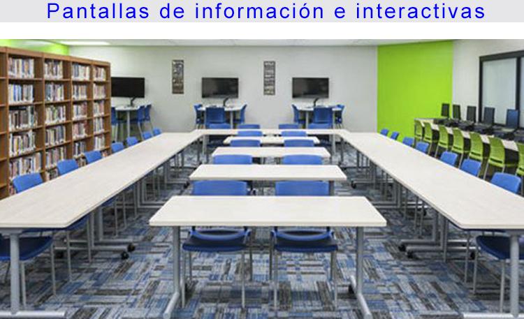 Foto educación pantallas información
