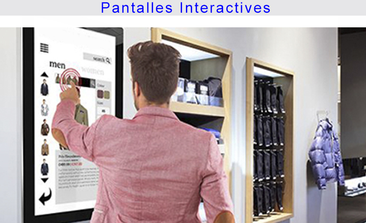 Foto retail pantallas interactivas 3 CATALÀ
