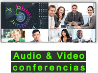 Home grafisme Audio & Video conferencias 2